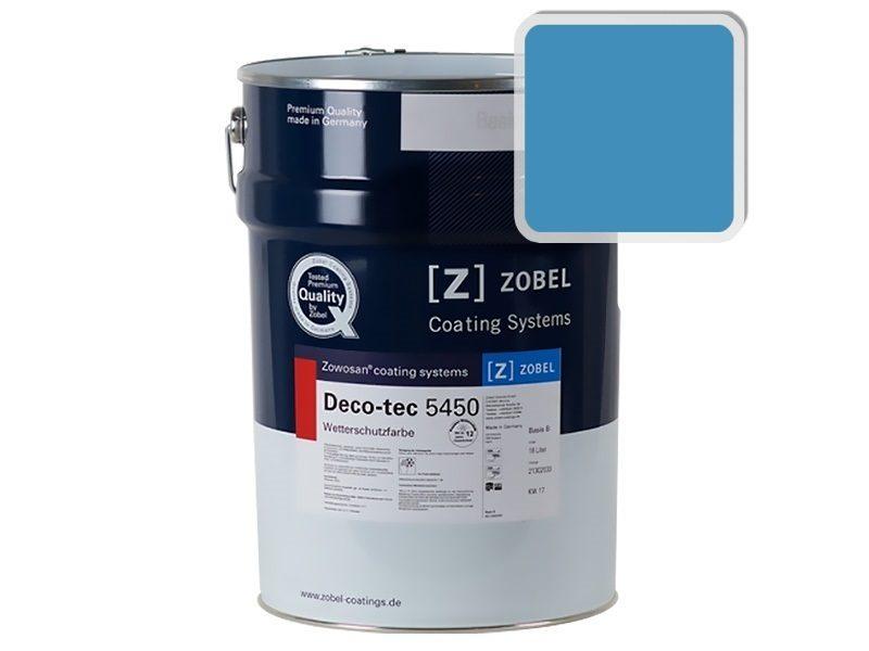 Краска для дерева ZOBEL Deco-tec 5450B RAL 5012, 1 л