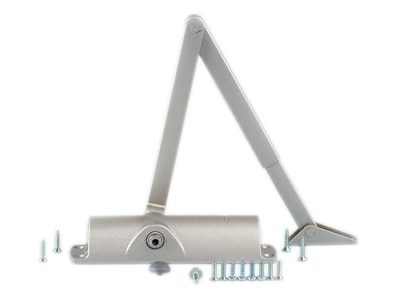Доводчик дверной Geze TS 1000 с тягой, серебристый