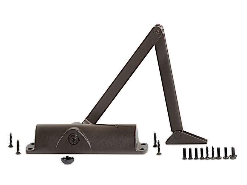 Доводчик дверной Geze TS 1000 с тягой, коричневый