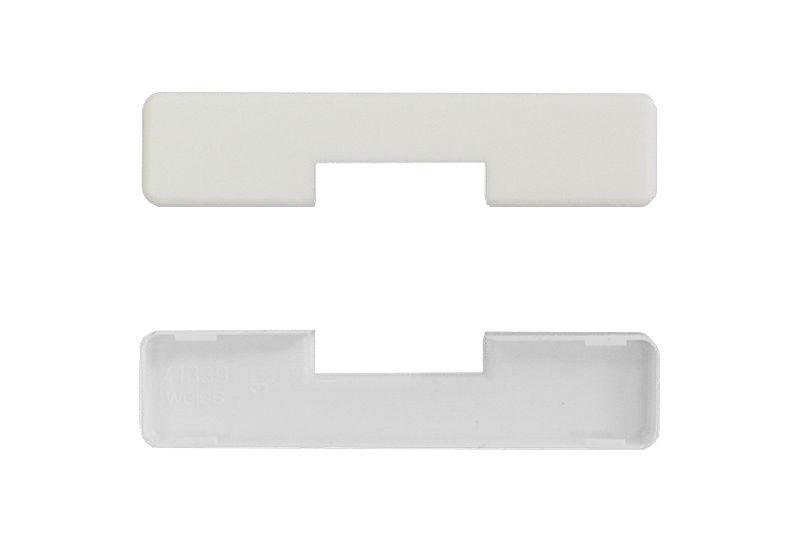 Декоративная накладка MACO 41339 на средний прижим на створке белая