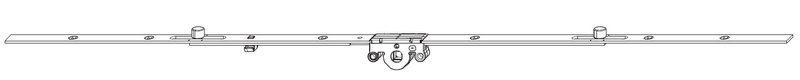 Поворотный механизм MACO 52466 Со средним расположением ручки GR4 DM15 1001-1400 мм