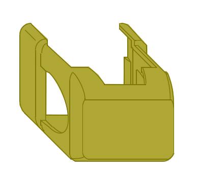 Декоративная накладка MACO 41762 на нижнюю петлю рамы короткая бронза