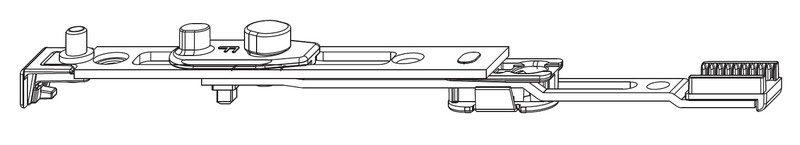 Концевой запор MACO 212688 Нижний для двери с откидной опорой
