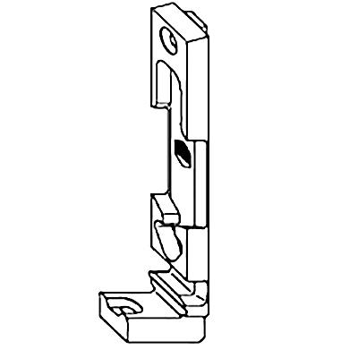 Поворотно-откидная планка MACO 33323 9 мм KBE левая