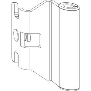 Верхняя петля MACO 202536 на створку 4/20-9 и 12/20-9 - 160 кг DT (attach1 11851)