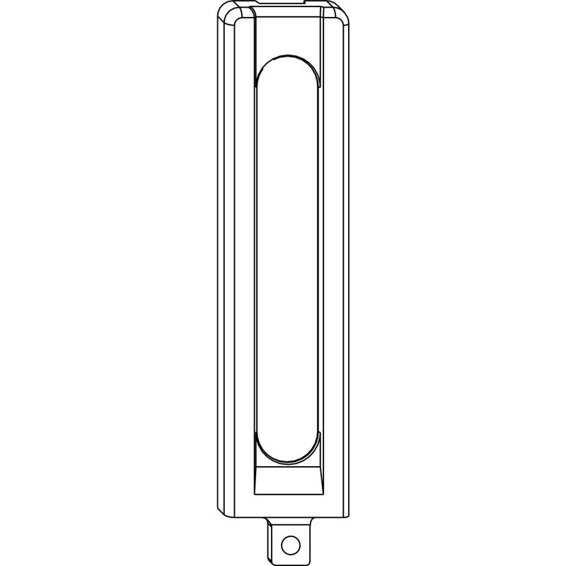 Декоративная накладка MACO 42057 на нижнюю петлю рамы длинная титан
