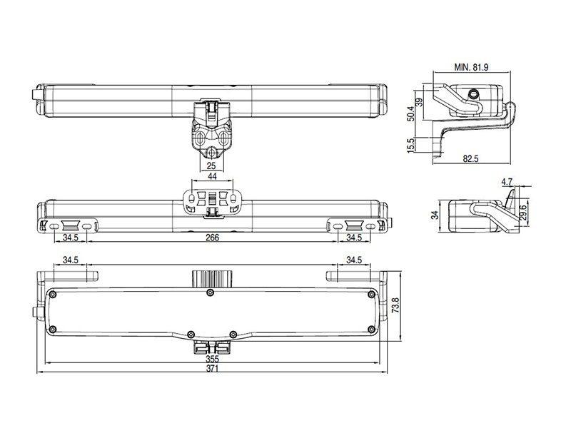 Автоматический привод цепной Giesse VARIA SLIM BASE 230V, черный