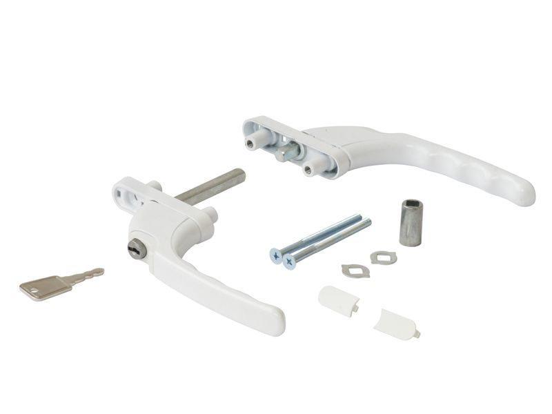 Гарнитур балконный прямой Internika, с ключом с одной стороны, белый