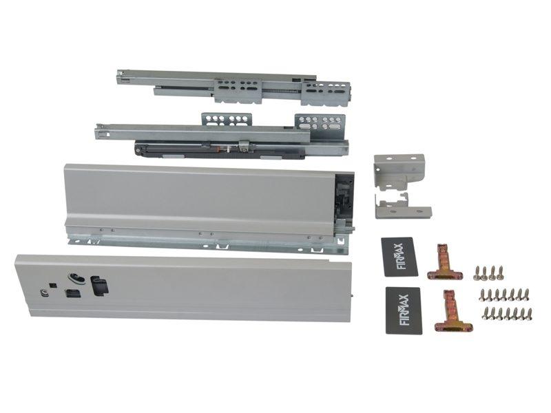 Комплект д/ящика Firmax 450 мм, H83мм с доводчиком, серебристый