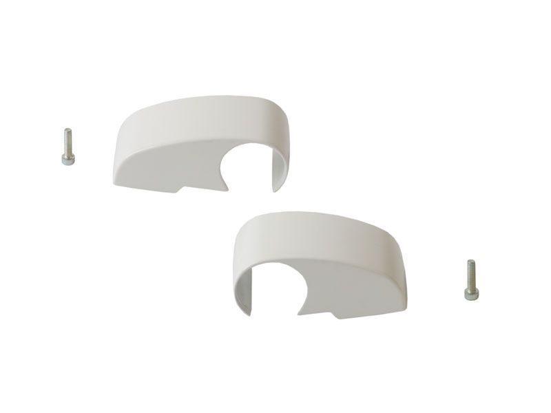 Крышки для 2-х секц пе-ль, 92 мм, DOMINA HP COVER, комплект, белая