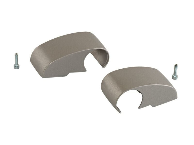 Крышки для 2-х секц пе-ль, 92 мм, DOMINA HP COVER, комплект, серебро