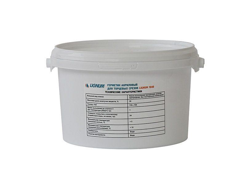 Герметик для торцов древесины LIGNUM 1040, 3л
