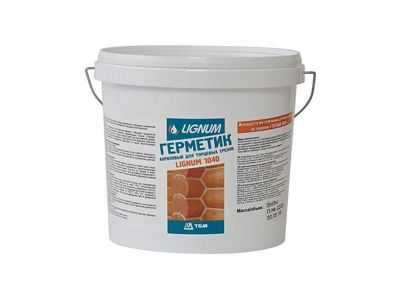 Герметик для торцов древесины LIGNUM 1040, 5л