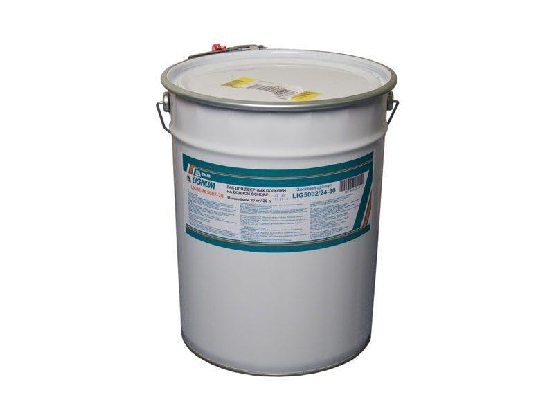 Лак для дверных полотен на водной основе, LIGNUM 5002-30,20 кг