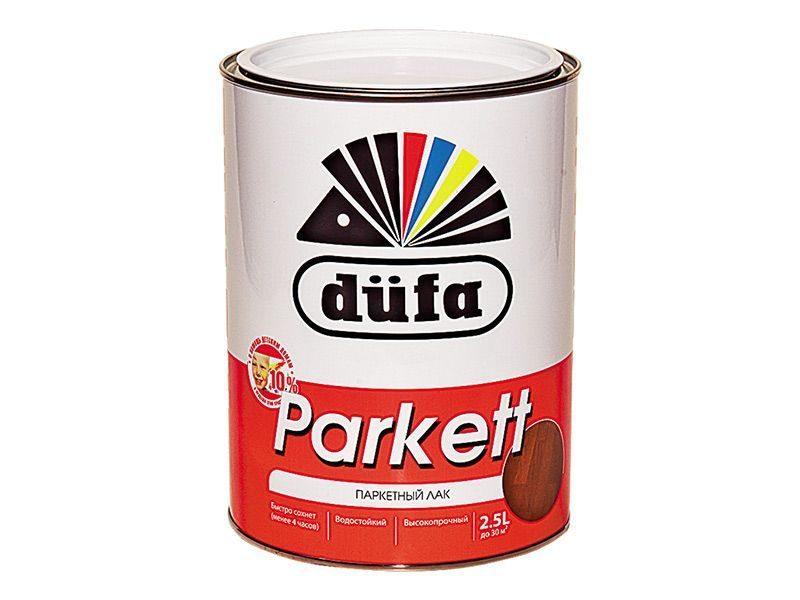 """Лак паркетный """"Dufa Retail"""" PARKETT полуматовый 2.5л"""