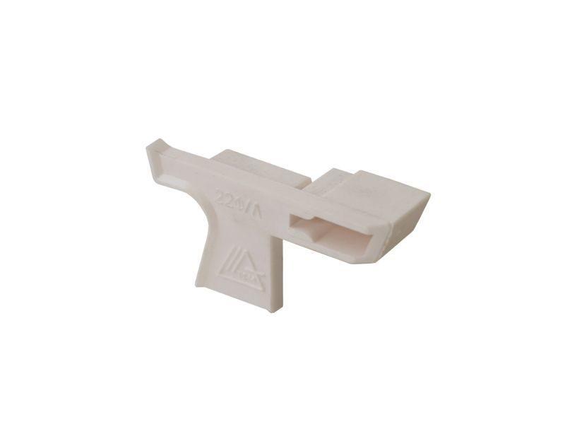 Накладка торцевая к водоотводному профилю № 22 F белый левый (N22F)