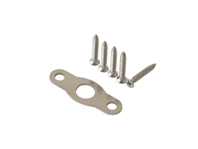 Накладной шпингалет ELEMENTIS для алюм дверей 220*22*8 мм с ответ 2 шуруп, сереб