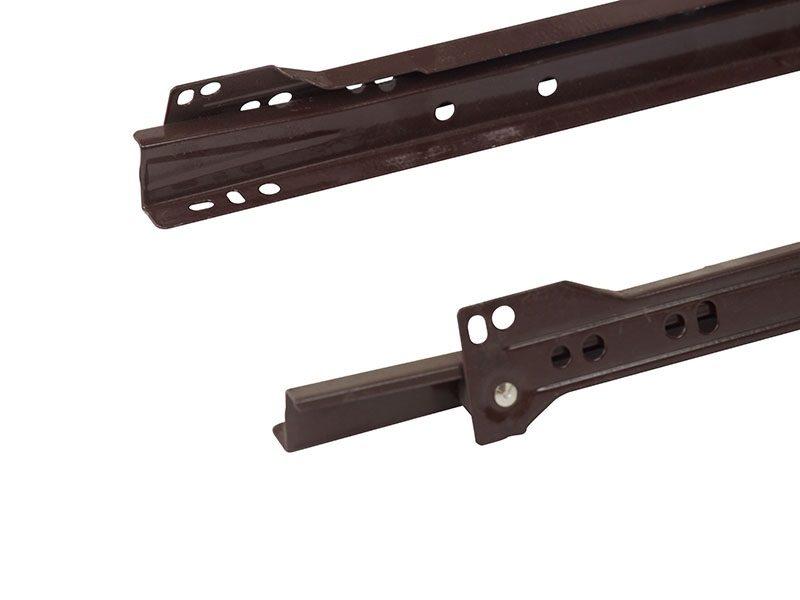 Роликовые направляющие Firmax 350мм, коричневый (4 части)
