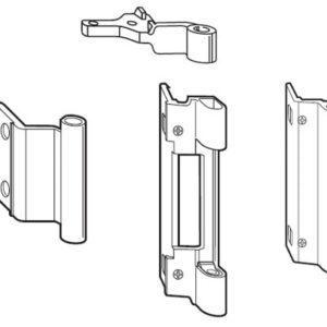 Петли поворотно-откидные Alu 540, неокрашенные (2)