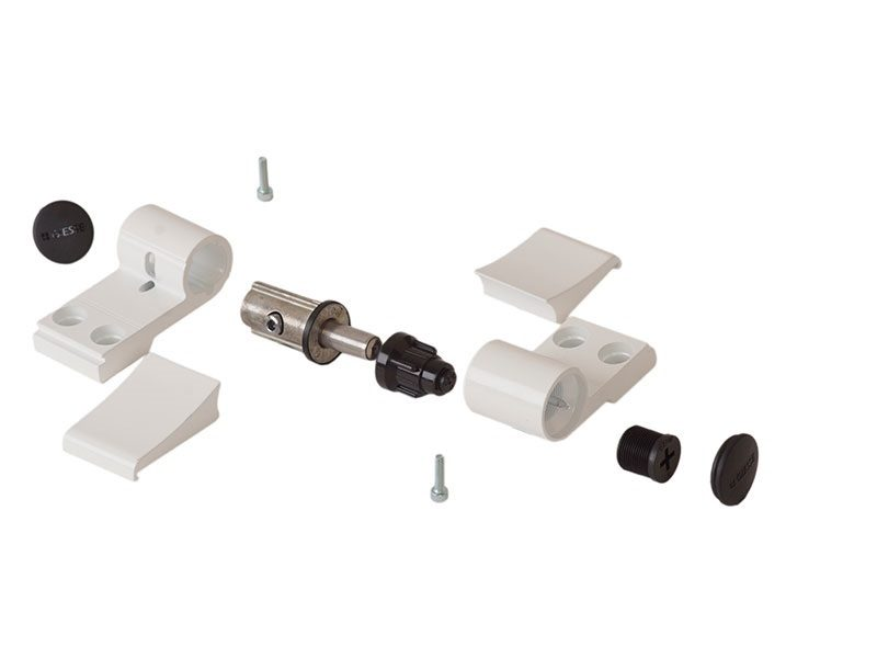 Петля Domina Classic 2-х секц белая RAL9010 (без крепления), м/о 92 мм, 06178410