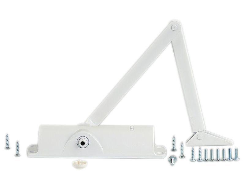 Доводчик дверной Geze TS 1000 с тягой , белый