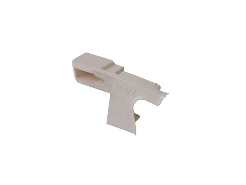 Накладка торцевая к водоотводному профилю № 22 F белый правый (N22F)