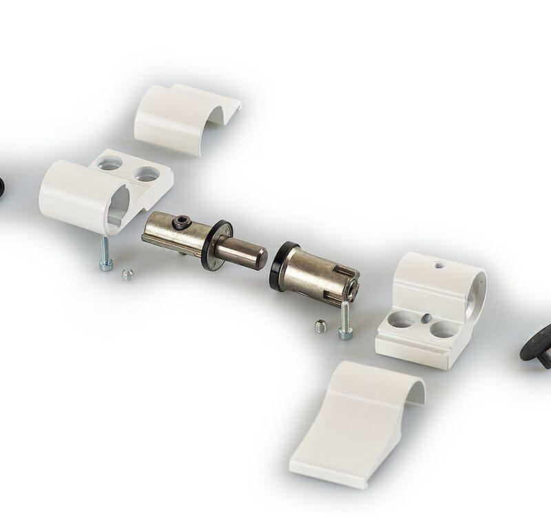 Петля DOMINA HP NEW 2-х секц белая RAL9010, м/о 62,5 мм, 05160410V