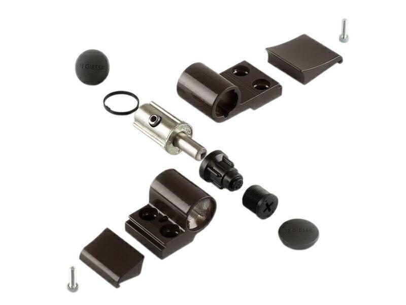 Петля Domina Classic 2-х секц коричневая RAL8019 (без крепления), м/о 62,5 мм 06170640