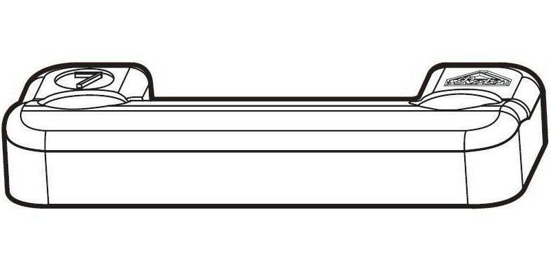 Прижим срединный скрытый на раме со штифтом FT30 Designo II