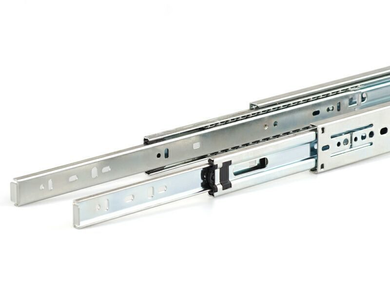 Шариковые направляющие Firmax полного выдвижения H=45 мм, L=500 мм, цинк (2 части)