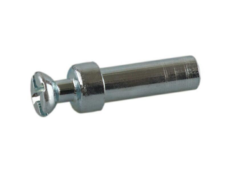TI10 Дюбель проходной двухсторонний (гайка) для стяжки пд., D=5мм, L=15мм, М4, сталь, цинк. покр