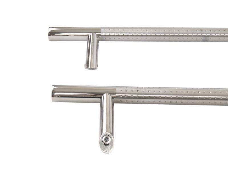 Ручка со смещением, комплект с креплением L=1400, D32, полировка