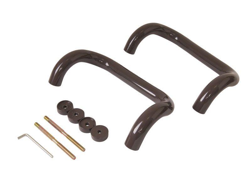 Ручка дверная Elementis изогнутая 250мм, коричневый, RAL8019, до 80мм