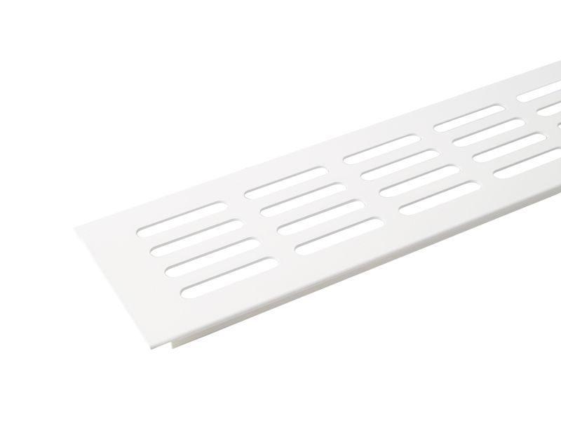 Вентиляционная алюминиевая решетка Bauset д/подоконника 800/80 мм, белая